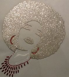 Silver Glitter Afro on BLACK T-Shirt by TShirtsThatRock on Etsy