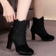 32.24$  Watch more here  - 2017 women ankle boots female genuine leather autumn boots woman boots sy-1332