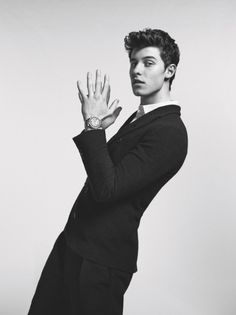 Shawn's collab with Armani... Looking so damn hot