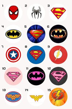 super hero logo for kids costume and capes Avenger Party, Superhero Birthday Party, Man Birthday, Birthday Design, Birthday Crafts, Birthday Board, Anniversaire Wonder Woman, Logo Super Heros, Super Hero Theme