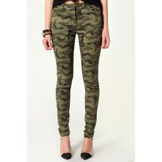 Mindy Military Styled Skinny Jeans ($40) ❤ liked on Polyvore