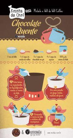 receita infográfico de chocolate quente