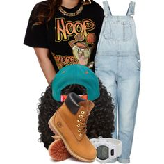 A fashion look from November 2014 featuring New Jack City t-shirts, Topshop jumpsuits and Timberland boots. Browse and shop related looks.