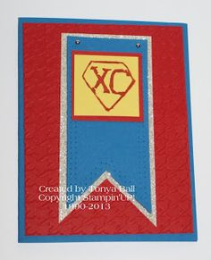 My #Undefined Stamp that I made for our XC team. I can't wait to make more cards for my kids this year.