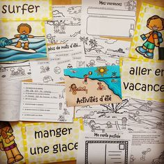 🌴 Noch mehr Sommermaterial 😍🌴 Die Sechser bekommen das Stationenlernen und mit meinen Siebenern werde ich ein bisschen in sommerliche… Teaching French, Bullet Journal, Instagram, Cards, Summer Recipes, Teaching French Immersion