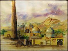 Yazd watercolor by sara-nmt.deviantart.com on @deviantART