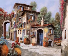 Luci All'entrata Painting by Guido Borelli