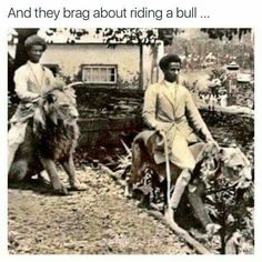 Ethiopians Riding Lions, Featuring Royal Black Lion Monarchy (Our Divine Glory) – RasTafari TV™ Haile Selassie, African Royalty, Lion Of Judah, Black History Facts, Thing 1, My Black Is Beautiful, Beautiful People, Black Power, African American History
