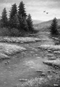 Amber Afternoon2 Original Oil Painting - Vickie Wade art , landscape, river…