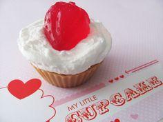 $4.50 Sugared Strawberries and Cream Cupcake Soap