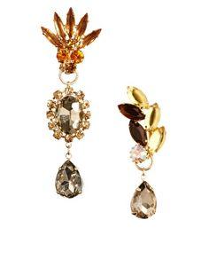 ASOS Mismatch Jewel Opulent Earrings