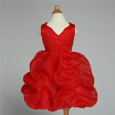 2017 Brand Formal Flower Girl Dress Red V-neck Wedding Princess Vestidos Kids Clothes For Girls Of 10 11 12 Years Old AKF164067