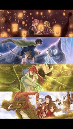 fairy tail couples as characters from movies I ship this