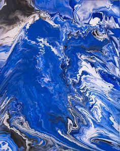 """""""Sea the ice"""" by Elsa Duault Acrylique sur toile 73x92cm Prix sur demande. Mouvement Nouvelle Danse. #art #fluidpaint"""