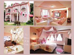 Visite de la maison d'Hello Kitty #hellokitty #house #deco #japan #chine #shangai #beijing #dolls