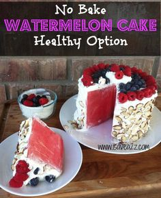 No Bake Watermelon Cake http://www.handimania.com/cooking/no-bake-watermelon-cake.html