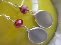 GREY GOOSE and CRANBERRY Agate semi precious stone by BlueOpera, $20.00