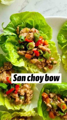 Shrimp Lettuce Wraps, Lettuce Wrap Recipes, Asian Lettuce Wraps, Lettuce Cups, Healthy Salad Recipes, Low Carb Recipes, Healthy Snacks, Free Recipes, Cold Appetizers