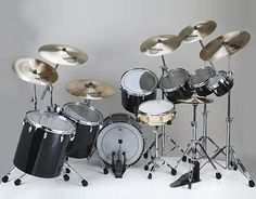 Phil Collins custom drum set.. Simple, unique and set up for a lefty haha