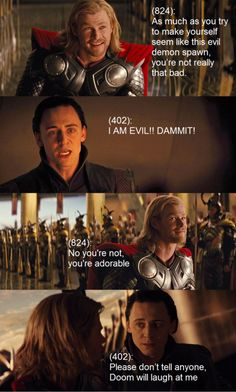 """OMG! YES! I need to remember that Thor really loves Loki (and Loki really loves Thor) to keep """"Darkness"""" great."""