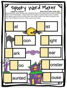 halloween activities halloween literacy puzzles and games - Halloween Word Game