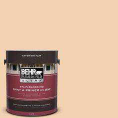 BEHR Premium Plus Ultra 1-gal. #ppl-42 Warm Apricot Flat Exterior Paint