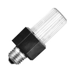 Strobe light that screws into any normal size light fixture for that flashing effect.