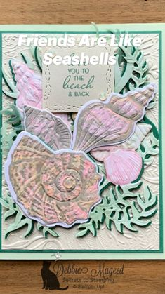 Spring Books, Nautical Cards, Beach Cards, Sea Theme, Friends Are Like, Inspirational Artwork, Ocean Themes, Tropical Paradise, Stamping Up