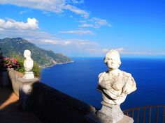 "il Terrazzo dell'Infinito - Villa Cimbrone, Ravello -  Amalfi Coast - Salerno, Campania - Belvedere dell'Infinto, a large sunny terrace overlooking the sea, which captures the view that the famous novelist Gore Vidal called ""the most beautiful in the world""."