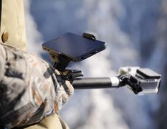 Our Phone Mount can turn your smartphone into a visual display of your action camera's footage, while keeping it securely attached to any POV Pole or GoPro Attachment! Visual Display, Phone Mount, Cool Gadgets, Telescope, Gopro, Smartphone, Action, Technology, Canning