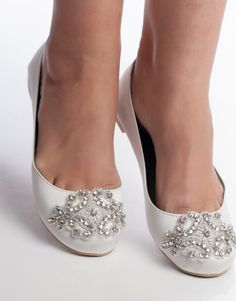 Embellished wedding flats ORIANE -150092 – Nestina Accessories