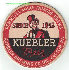 Kuebler Beer Coaster Beer Coasters, Beer Brewing, Ale, Ale Beer, Ales, Beer