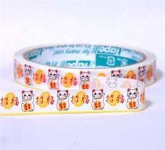 white lucky cat Deco Tape Maneki Neko kawaii cute  Kawaii Shop Modes4u.com