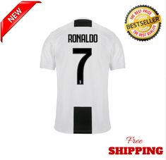 cb70c3a57 New Juventus Name Cristiano Ronaldo No.7 2018 - 2019 T-Shirt Men 100%  Cotton