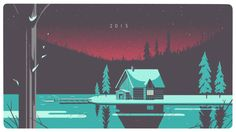 Tom Haugomat, for Tiphanies illustrators agency - Happy 2015 animated gif