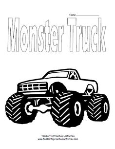 monster truck coloring page - Grave Digger Truck Coloring Pages