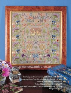 Buy Wild Hedgerow House Sampler Cross Stitch Chart  - DOWNLOAD ONLY Online at www.sewandso.co.uk