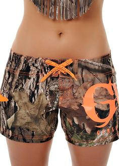 Board Shorts Mossy Oak Break® Up Country - Material: 100% Polyester - GWG Logo Hi-Density Screen Print - Side Pocket with Zipper Closure - Build Your Own Bikini - Mix and Match Mossy Oak® Country Swim
