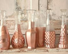 Rose Gold vases, rose gold wedding decor, Set of 6 rose gold dipped bud vases and, gold painted budvase, rose gold wedding table decor Rose Gold Vase, Rose Gold Decor, Gold Vases, Blue Vases, White Vases, Rose Gold Christmas Decorations, Gold Wedding Decorations, Wedding Vases, Wedding Table