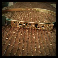 SALE MICHAEL KORS Gold Belt MICHAEL KORS Gold/Black Belt. Size Small. Brand New! Never Worn. 100% Authentic  MICHAEL Michael Kors Accessories Belts