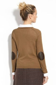 camel and elbow patch sweater is a Fall must have