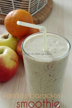 Szofika a konyhában. Nectarine Smoothie, Vanilla Smoothie, Smoothie Recipes For Kids, Green Smoothie Recipes, Superfood, Kids Meals, Food And Drink, Fruit, Drinks