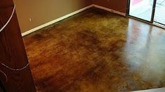 Staining cement floors