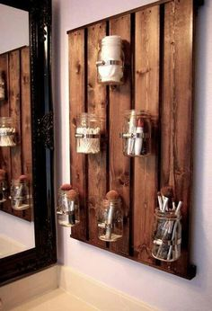 101 of the very best home DIY Decorating Ideas   You might well need a step ladder to do most of them as well.  www.ladders-onlin...  *// Number: 1 \\* *Room:* Bathroom  *Idea Type:* Bathroom organizer *Idea Details:* Re-purpose Organiser made from Glass Jars   *Other Tools Needed:* Drill, hammer, saw, screwdriver   #diyproject #diyhomedecor