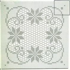 Crochet and arts: Large square tablecloth crocheted