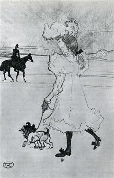 In the Bois - Henri de Toulouse-Lautrec 1897 French 1864-1901