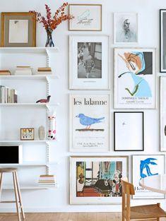 Bolig: Her er tomme vægge ikke en mulighed Inspiration Wall, Interior Inspiration, Interior Design Living Room, Living Room Designs, Decor Interior Design, Interior Decorating, Wall Art Decor, Room Decor, Wall Of Art