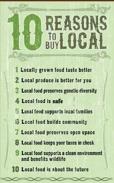 chart showing why localy sourced produce is better