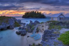 Beautiful Sunset On A Beach House In Bermuda Wallpaper - Resolution px Beautiful Places In The World, What A Wonderful World, Oh The Places You'll Go, Places To Travel, Places To Visit, Beautiful Things, Vacation Destinations, Dream Vacations, Vacation Spots