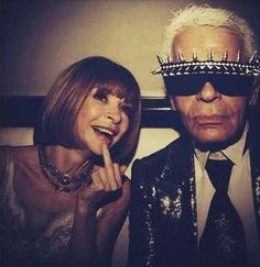 this is by far the best picture I have ever seen in my life. Anna Wintour and Karl Lagerfeld.